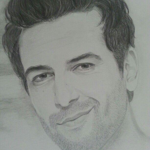 Elyas M'Barek Bleistift Zeichnung von Rene Stuth