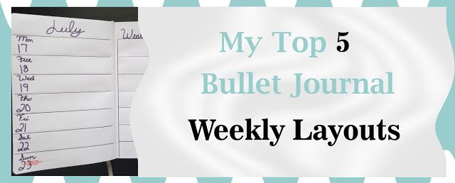 PlanneryButterfly: My Top 5  Go To Weekly Layouts