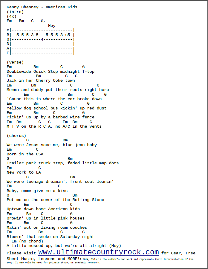 Kenny Chesney All I Want For Christmas Chords | Christmaswalls.co