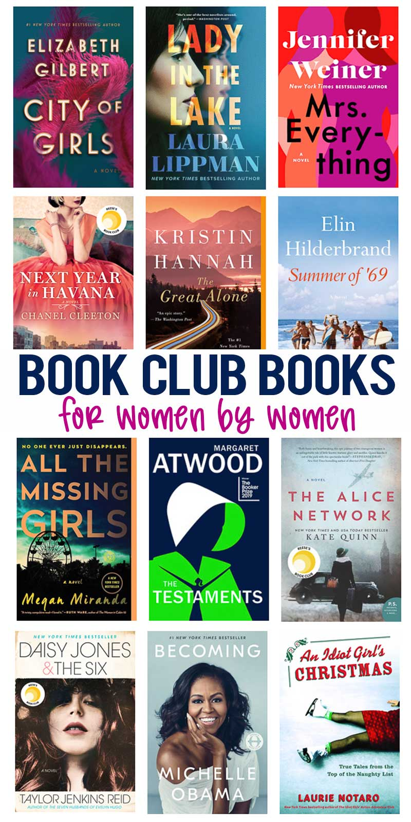 Best Book Club Books For Women By Women Online Book Club Book Club Reads Book Club Books