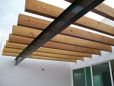 Columna techo viga de madera buscar con google for Techos de madera para patios