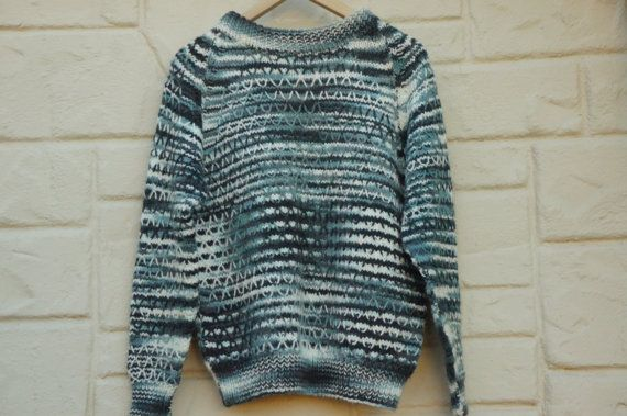 Vintage 70s-80s Handmade Sweater Boho Hipster by SycamoreVintage