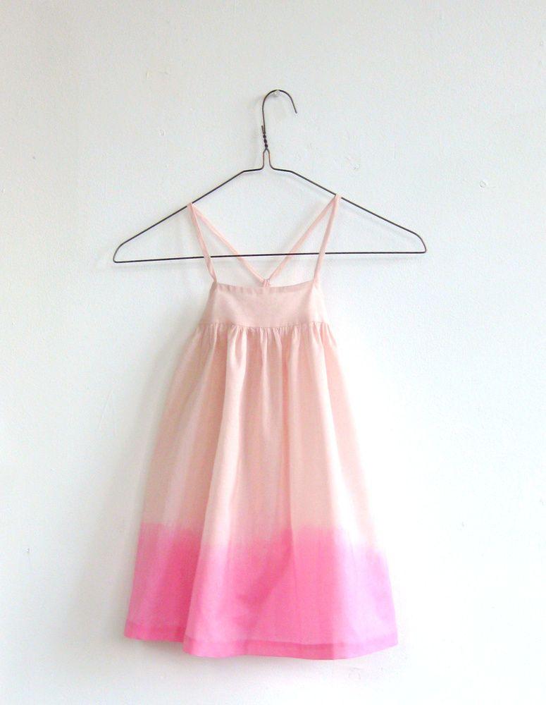 Dip dye pink sun dress - Wolfechild