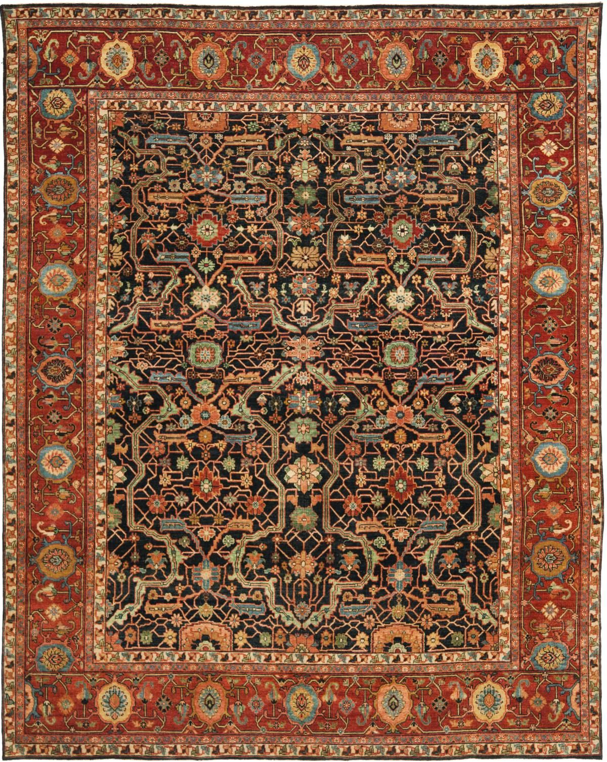 Richmond Rug From Ralph Lauren Collection Rich In History The Area Rugs Was Inspired By A Century Farahan Sarouk Carpet