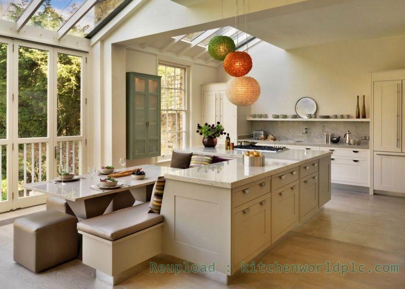 Kitchen Island Ideas With Seating Uk Homedecor Livingroom Bathroom Livingroom In 2019 Kitchen Island Dining Table Kitchen Island Bench Modern Kitchen Island
