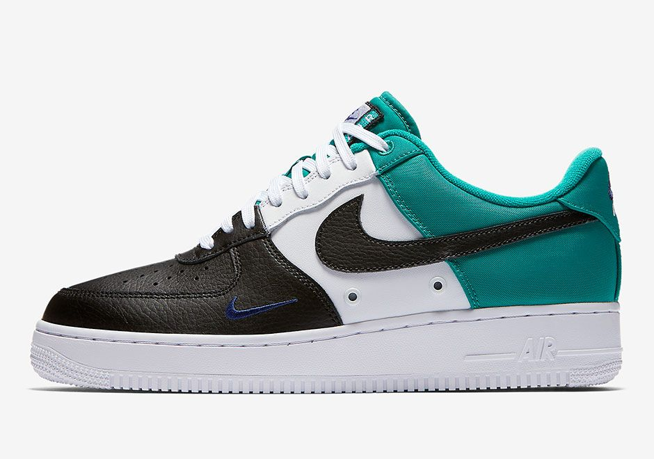 new arrival 6f7c0 90eab A new style with a three-color block and mini Swooshes on the toe shows up  once again on the Nike Air Force 1 Low, just like the red, white, and blue  ...