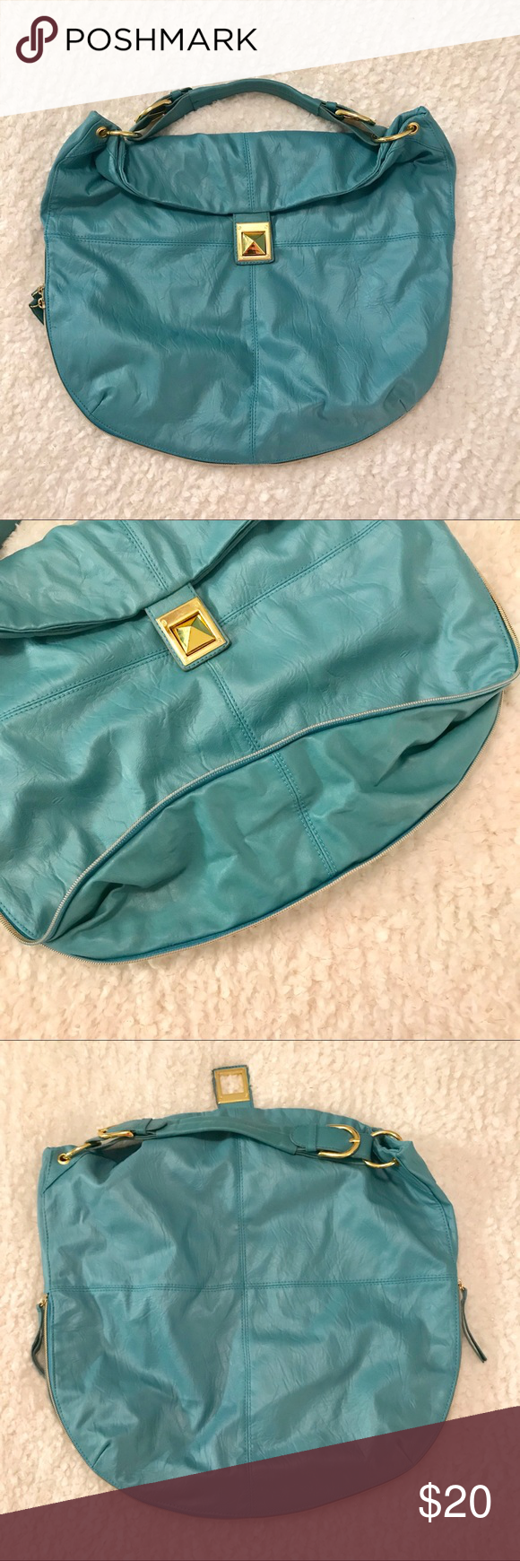 Preloved Mark Teal Hobo Style purse Mark brand hobo style