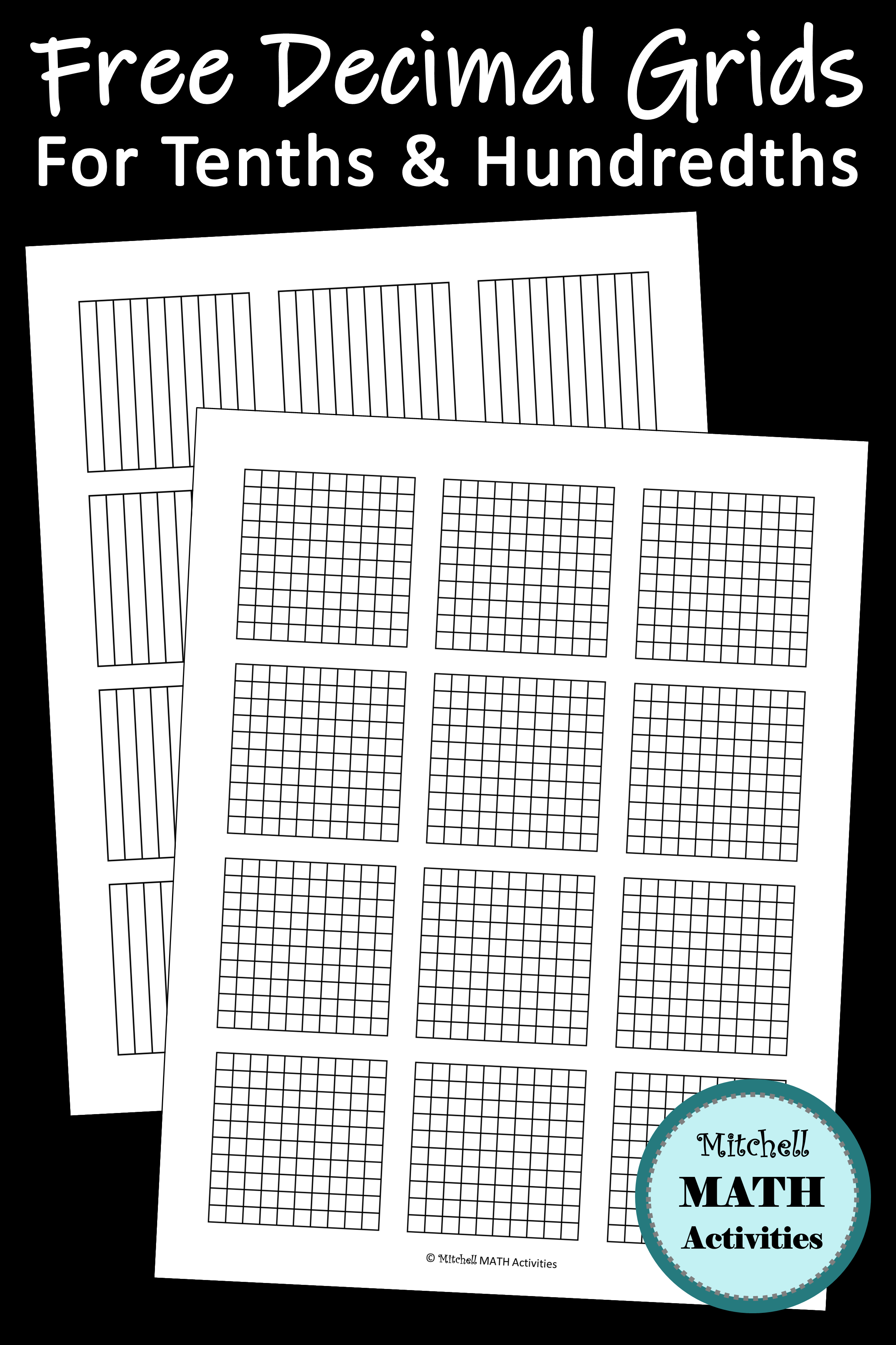 Free Printable Decimal Grid Models For Tenths And
