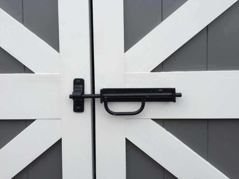 Barn Door Hardware: Gate Latch | Heavy Duty Hinges | Strap