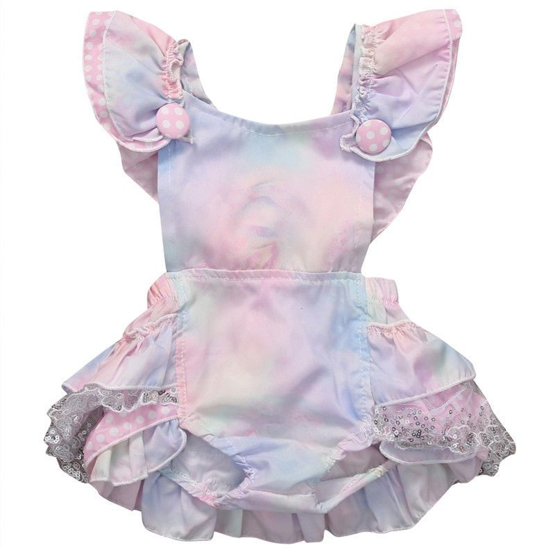 a54394cd717b Ruffles Cute Jumpsuit Outfits Clothing Summer Sunsuit 0-24M Cute Newborn  Baby Girls Clothes Tops Floral Bodysuit Short Sleeve  Affiliate