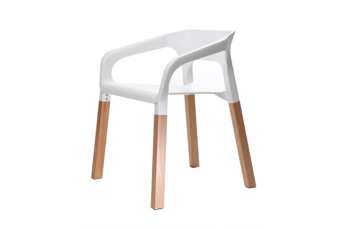 Sedie Bianche Design : Miliboo gruppo di due sedie design scandinave bianche helia