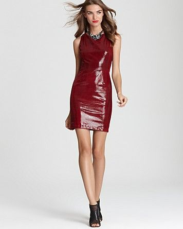 Alice + Olivia Leather Dress - Exclusive Sleeveless Mini - Leather - Women's Trends - Fall Style Guide: It's On - LOOKBOOKS - Fashion Index - Bloomingdale's