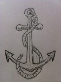 How to draw an anchor tutorial