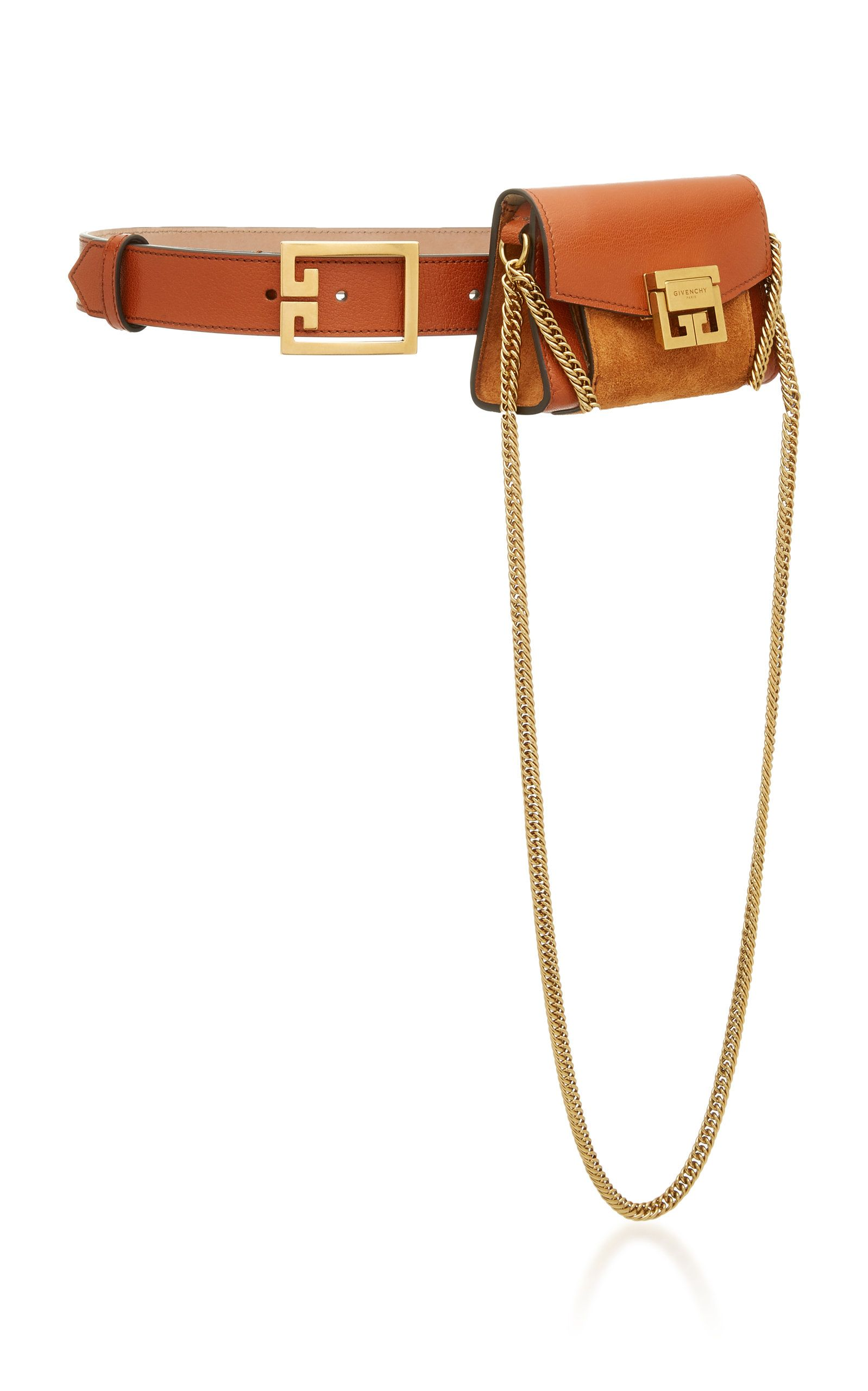 4b986f3a87f Nano Leather and Suede Belt Pouch by GIVENCHY Now Available on Moda Operandi