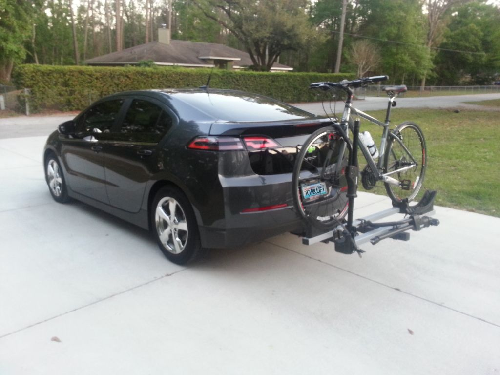 Chevrolet Volt With Ecohitch And Bike Rack Photo Courtesy Of
