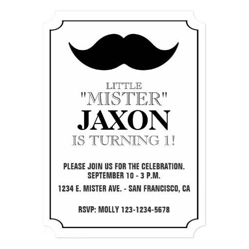 LITTLE MISTER BIRTHDAY INVITATION