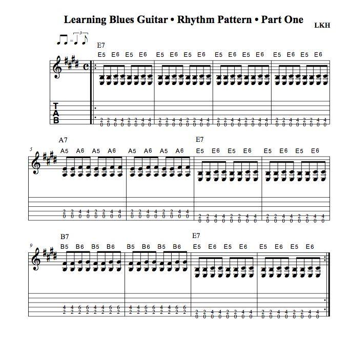 Learning Blues Guitar • Part One • Rhythm Pattern - News - Bubblews ...