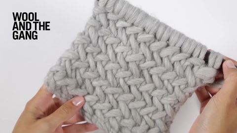 Herringbone knitted stitch - Wool and the Gang | Crafts | Pinterest ...