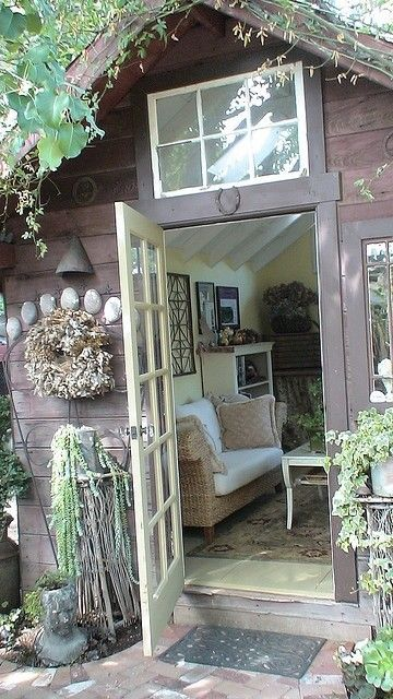 I Like The Window Above The Door...Need To Put One In My Garden Shed On The West  Side.