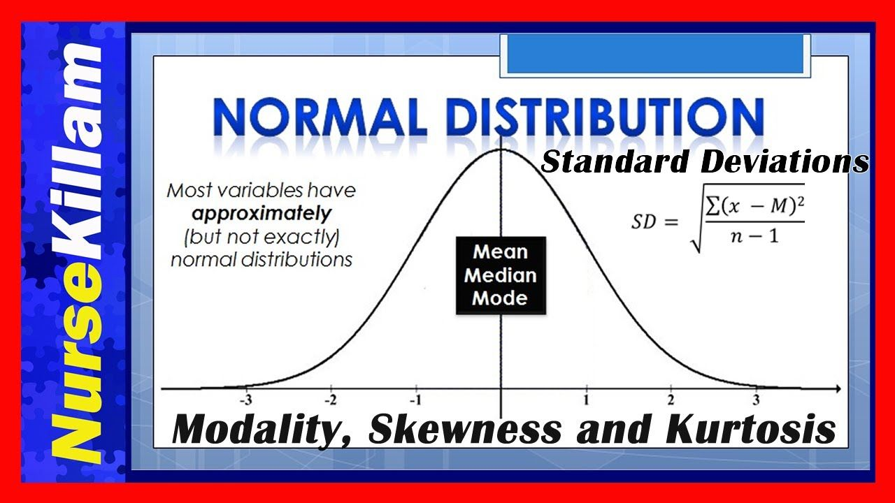 Normal Distributions Standard Deviations Modality Skewness And Kurtosis Understanding Concepts Standard Deviation Normal Distribution Mean Median And Mode [ 720 x 1280 Pixel ]