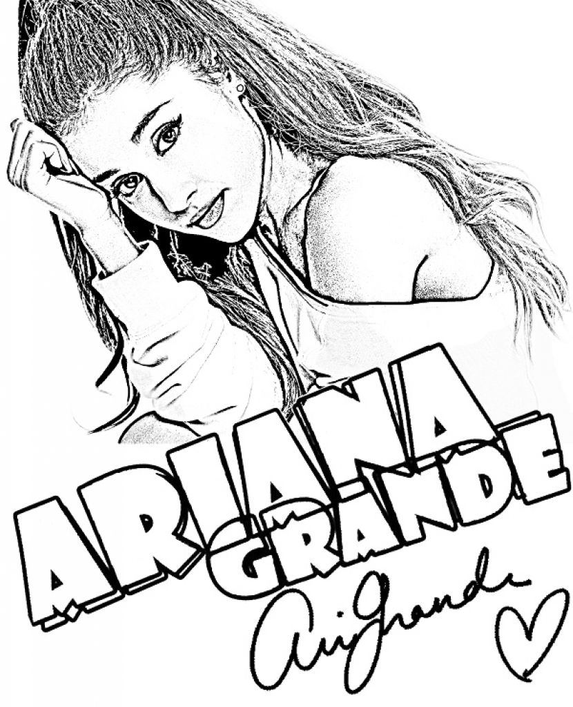 Ariana Grande Coloring Page Celebrities Coloring Pages Ariana