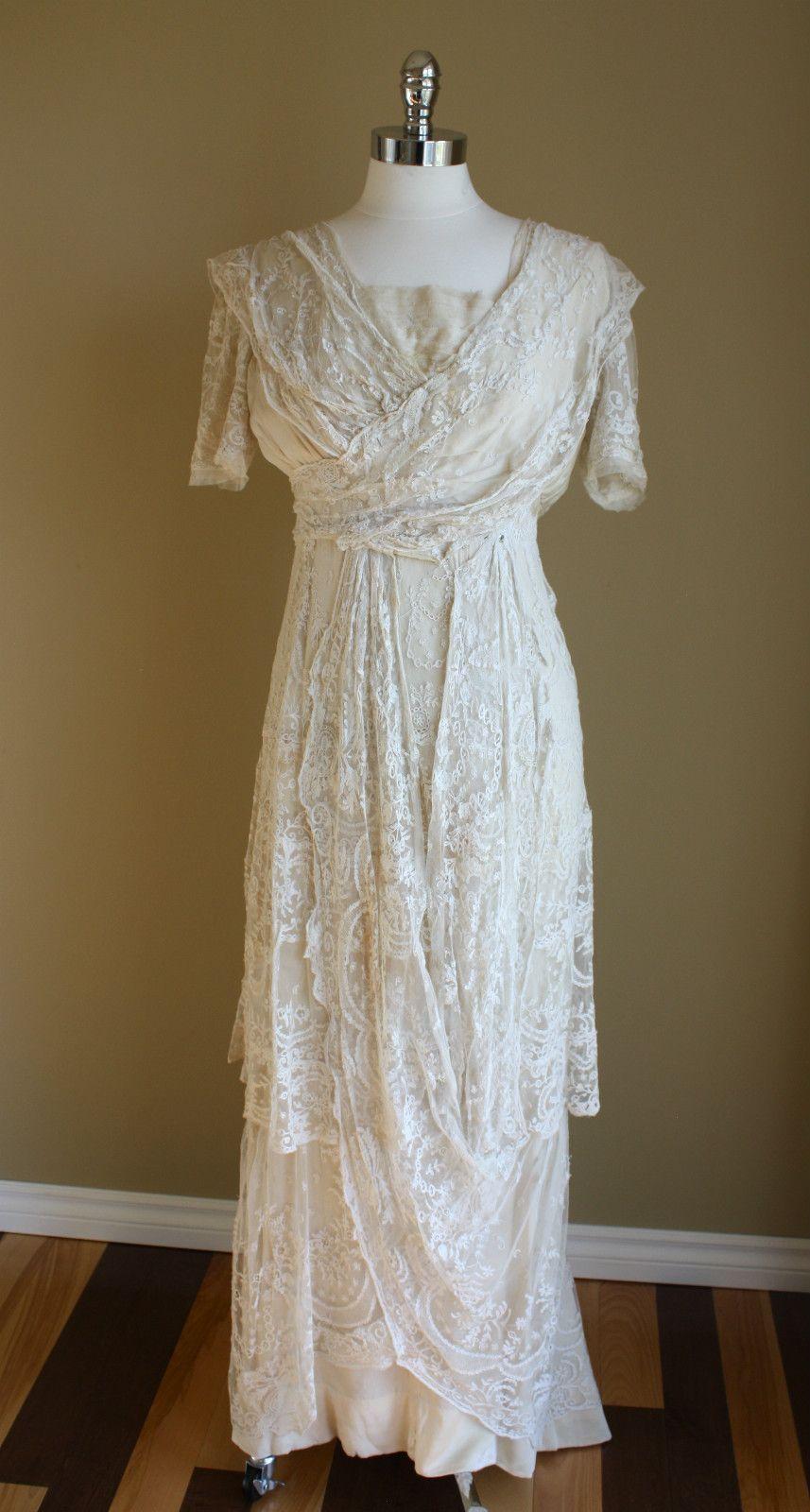 Edwardian Wedding Gown Ebay Evening Dresses For Weddings Evening Gowns Edwardian Gowns