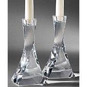 Nambe Piroett Candlestick Pair