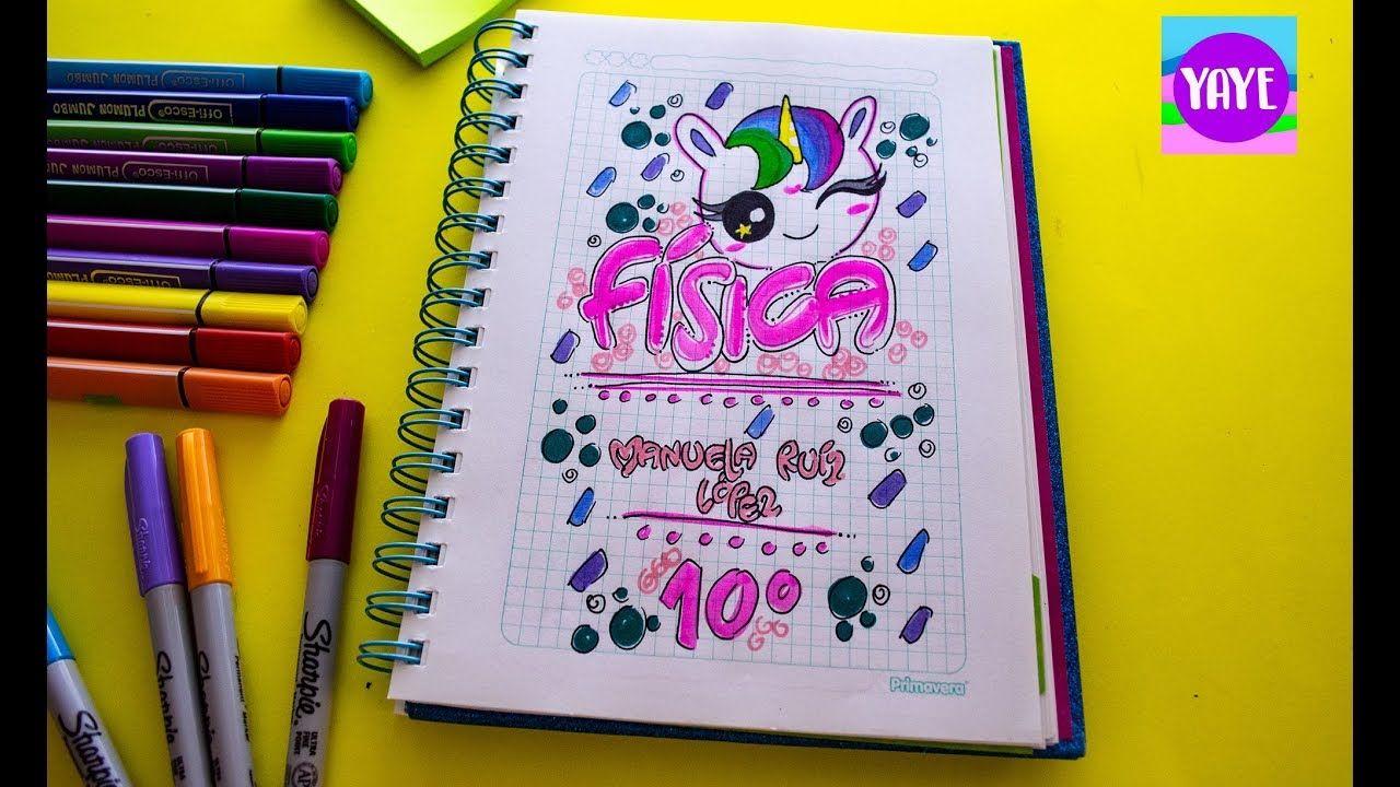 Ideas Para Decorar Portadas De Cuadernos Como Marcar Cuaderno De Fisica Decoraciones Para Marcar Cuadernos Portadas De Cuadernos Decoracion De Cuadernos