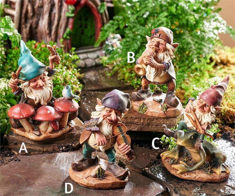 Mini Garden Musician Gnome Mini Garden Fairy Garden Diy Miniature Garden