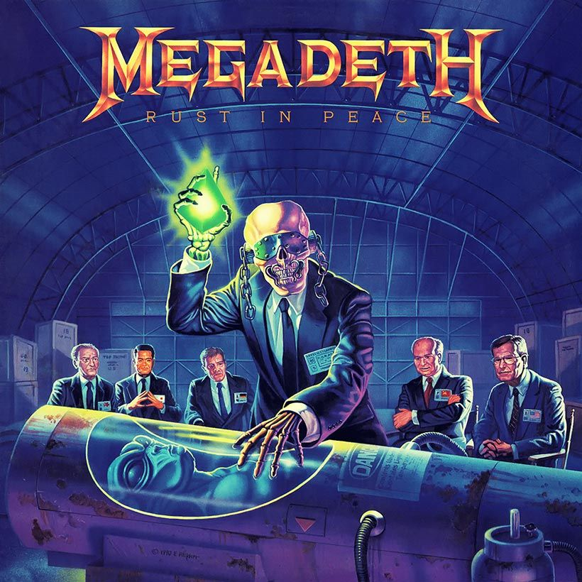 Rust In Peace In Memory Of Megadeth S Heavy Metal Rebirth Udiscover Metal Albums Rock Album Covers Music Album Art