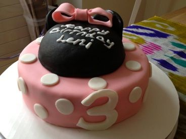 Baked By B Zurich Minnie Mouse Girls Birthday Cake