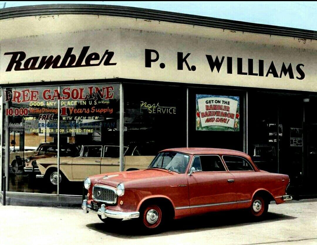 Rambler Dealer P K Williams In Austin Texas 1959 Used Car Lots Car Dealership American Motors