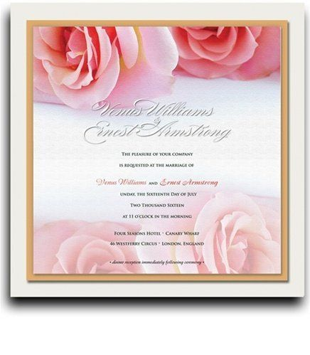 190 Square Wedding Invitations - Pink Rose Twins by WeddingPaperMasters.com. $494.00. Now you can have it all! We have created, at incredible prices & outstanding quality, more than 300 gorgeous collections consisting of over 6000 beautiful pieces that are perfectly coordinated together to capture your vision without compromise. No more mixing and matching or having to compromise your look. We can provide you with one piece or an entire collection in a one stop shopping ...