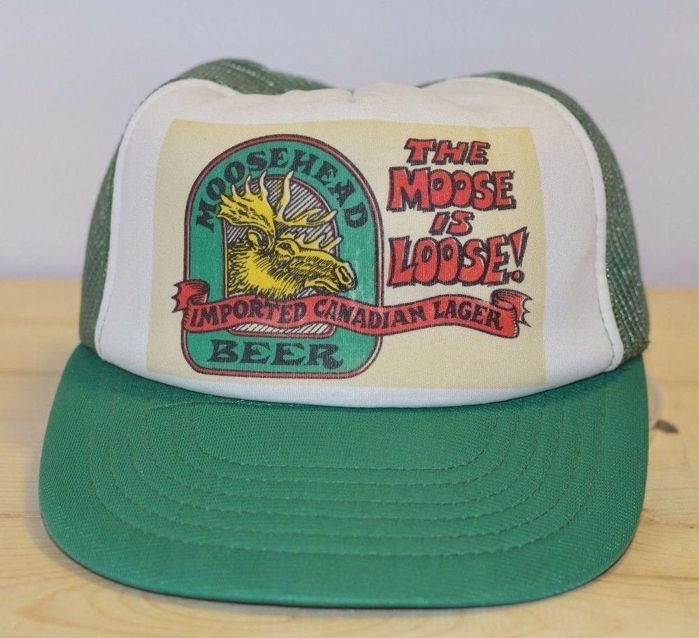 f94709bdbe3 Moosehead Beer Vintage Hat Imported Canadian Lager The Moose Is Loose  Trucker  Moosehead  TruckerHat  Beer