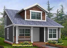 plan 2395jd: small house plan with two exterior choices | small