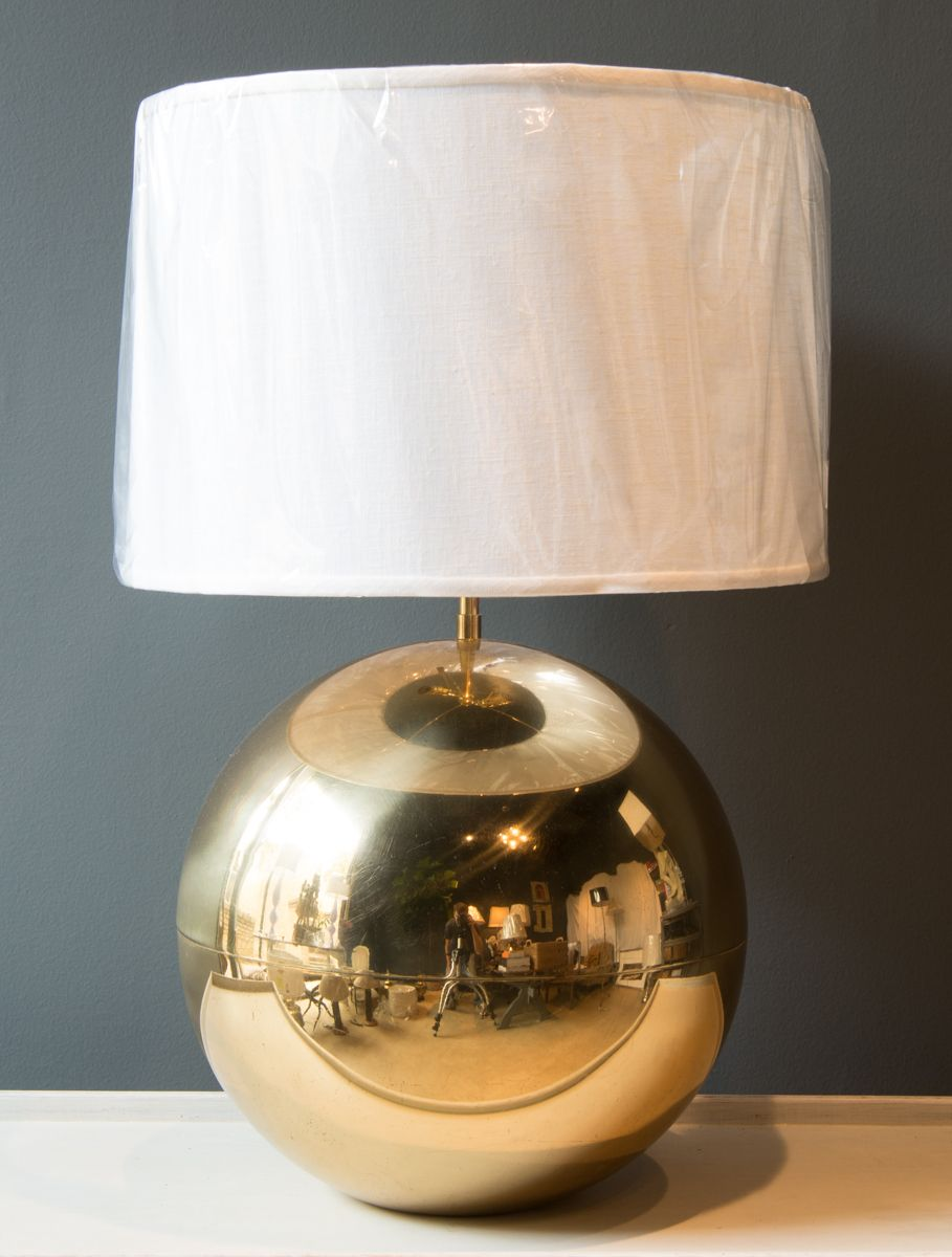 Rmh Antiques Vintage Brass Ball Lamp Table Lamp Lamp Ball Lamps