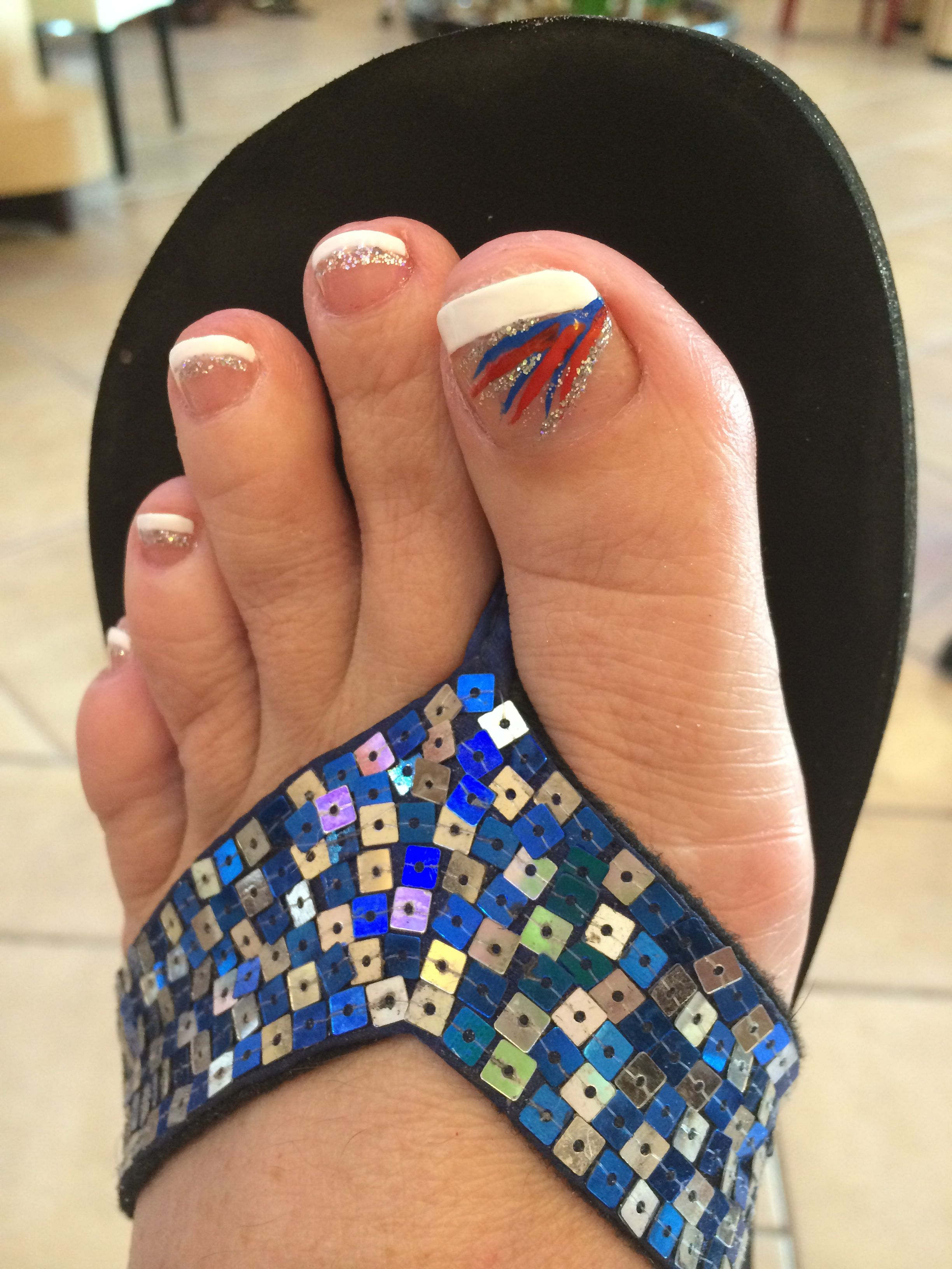 My 4th of July toes | Nailed it! | Pinterest | Mani pedi and Pedi