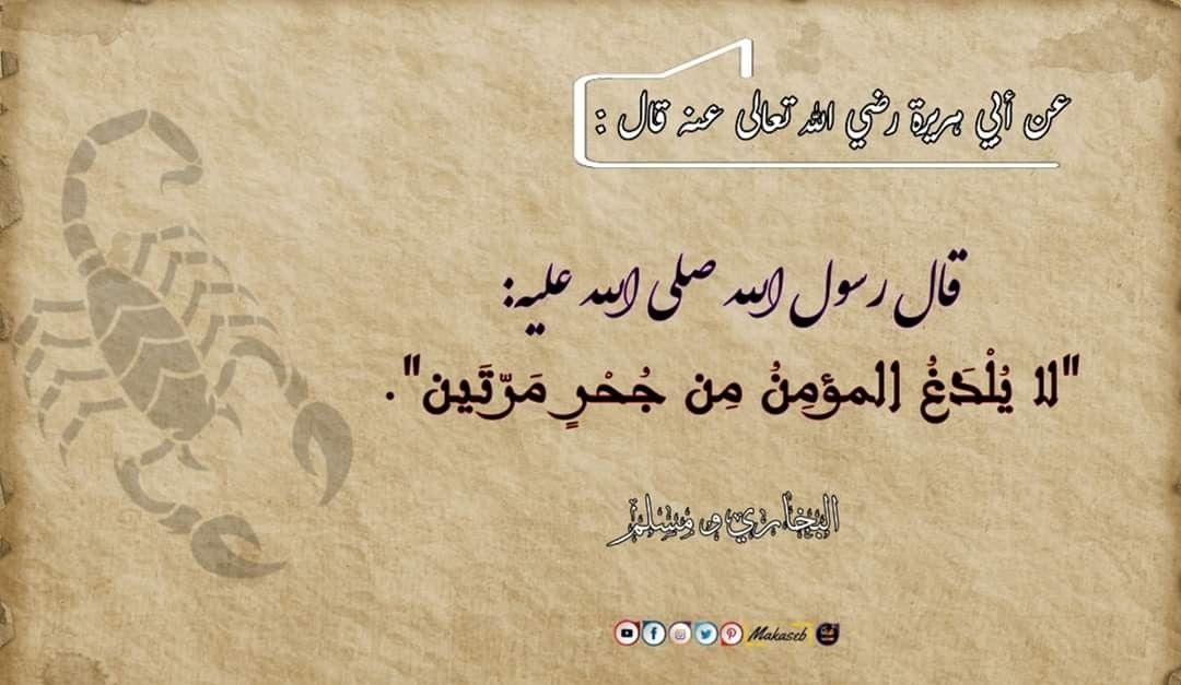 لا ي ل د غ المؤمن من ج ح ر مرتين Arabic Calligraphy Calligraphy Asos