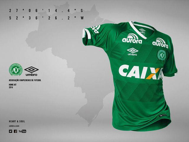 2553566a98 Camisas da Chapecoense 2016-2017 Umbro Titular