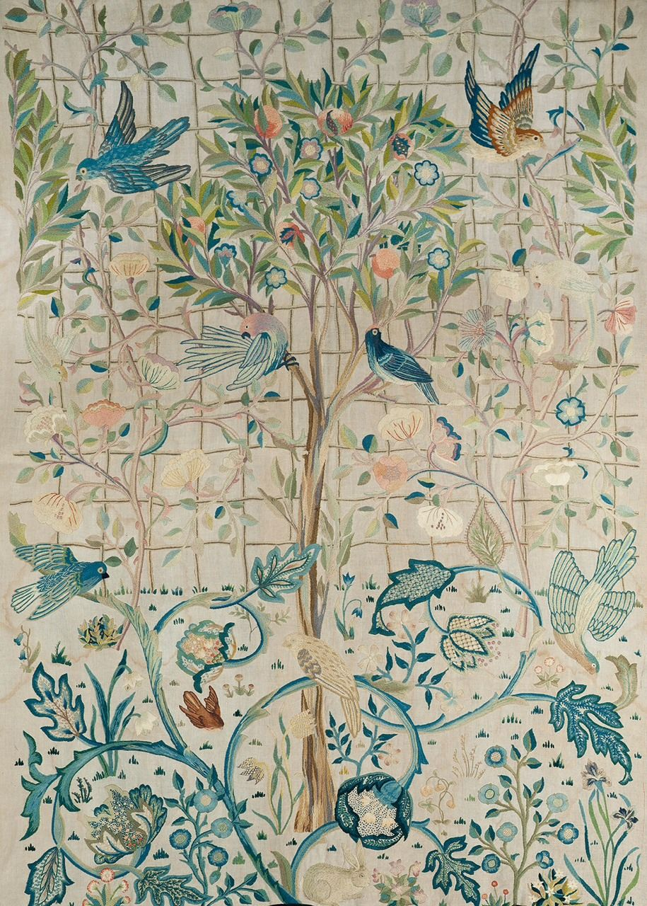 Embroidered Wall Hanging, c.1900, May Morris.