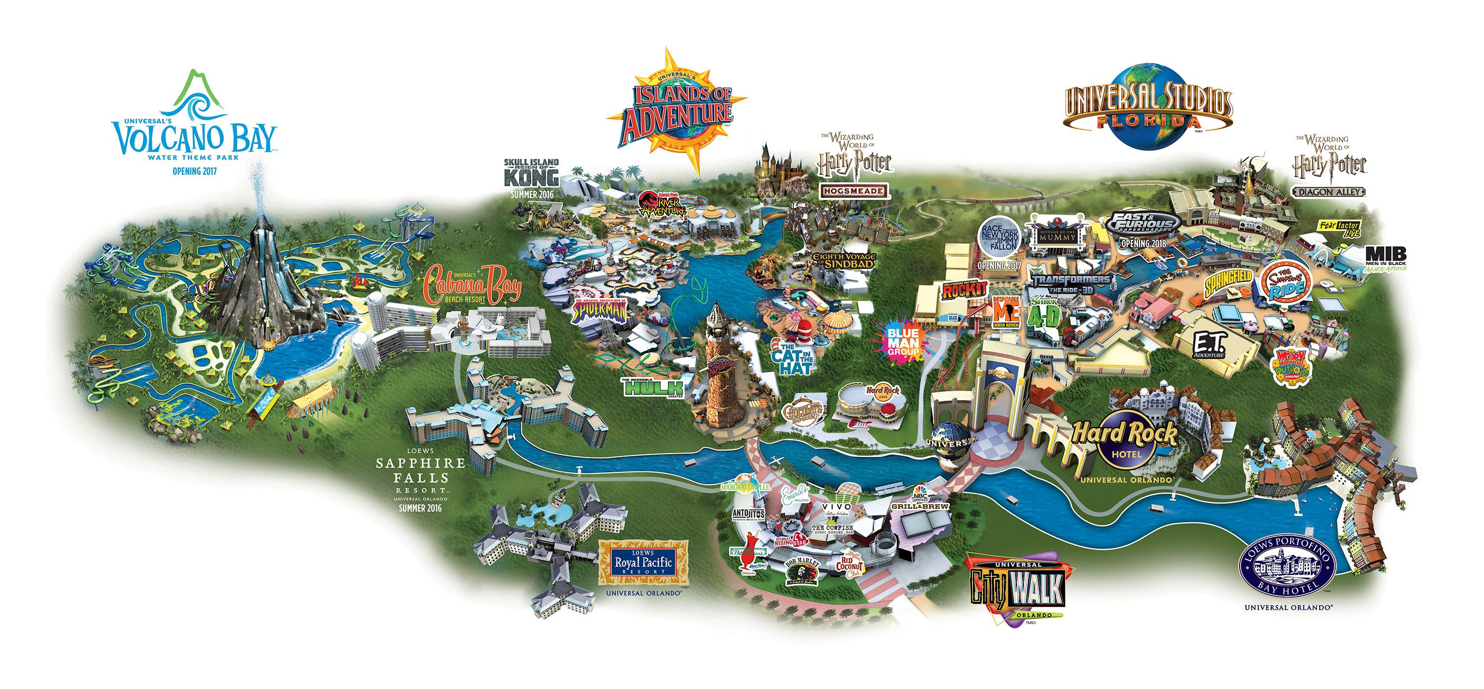 Map of Universal City Walk Universal Studios
