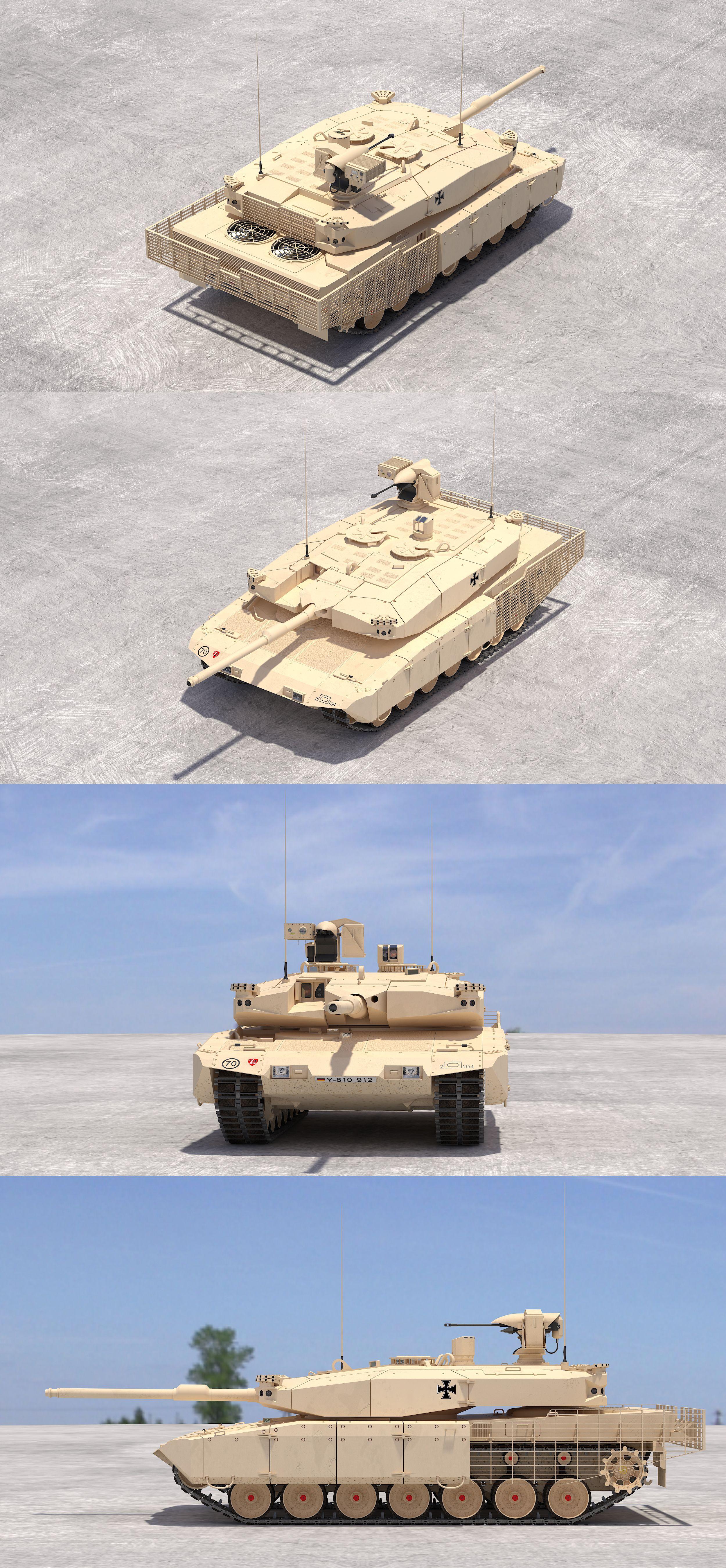 5ec3dbed0b0c Leopard 2 MBT Revolution(Desert Tone)  3Dmodel  3Dartist  Tank  Collection   3Dsmax  Vray