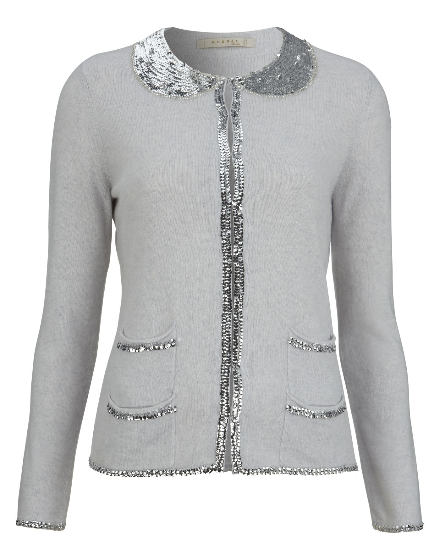 Sequin Collar Cardigan | Fashion | Nougat London http://www ...