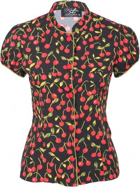 heiße neue Produkte tolle Preise viele Stile Küstenluder PAYTON Cherry KIRSCHEN Geisha Vintage 50s BLUSE ...
