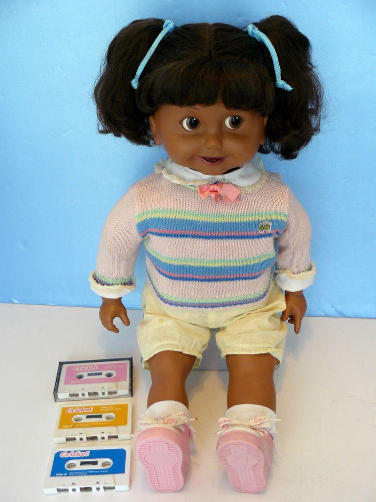Vtg 1986 Cricket 26 Quot Talking African American Doll 3