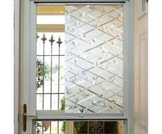 Decor Privacy Solutions Vinilo Decorativo Con Relieve Para Ventana 2 M X 90 Cm Efecto C Puertas Interiores Francesas Pelicula Para Ventanas Puerta Interior