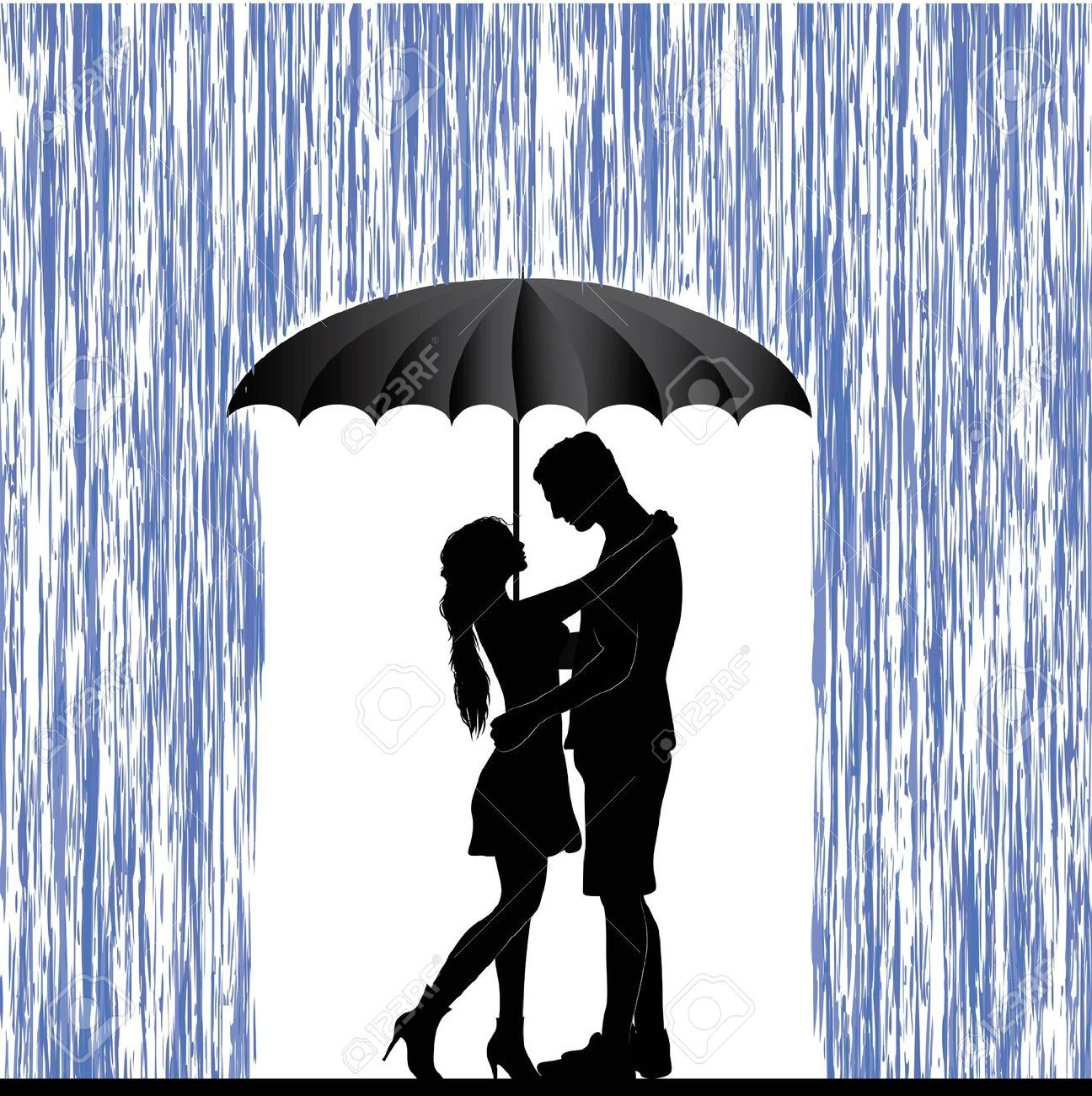 Couple Under Umbrella Stencil - Google Search