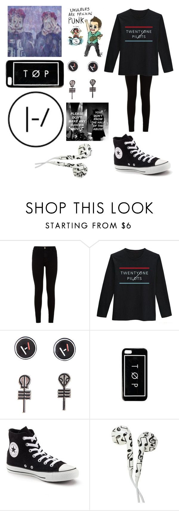 """RTD..."" by emo-kyleigh ❤ liked on Polyvore featuring 7 For All Mankind, Converse and shamlessselfpromo"
