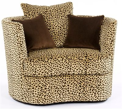 Animal Print Swivel Chair Printed Accent Chairs Comfy Chairs Printed Chair