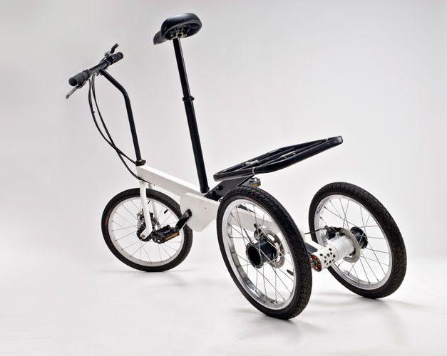 Vienna Bike est un petit tricycle urbain compact polyvalent. Pliant, à assistance électrique, il peut transporter un enfant ou des objets.